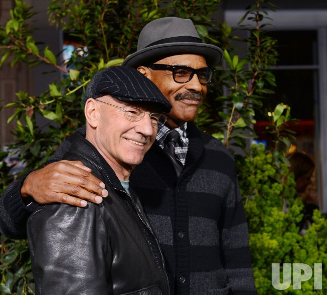 "Patrick Stewart and Michael Dorn attend ""Jack the Giant Slayer"" premiere in Los Angeles"