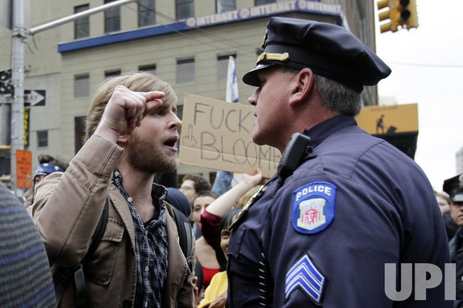 Occupy Wall Street Protesters React after being Evicted from Zuccotti Park in New York
