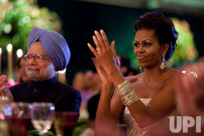 President Obama hosts a State Dinner for Indian PM Singh in Washington
