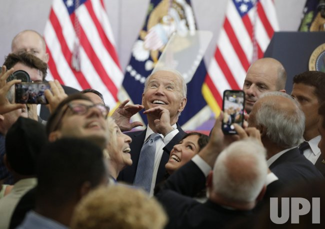 President Joe Biden Speans at Atlantic Aviation in Philadelphia