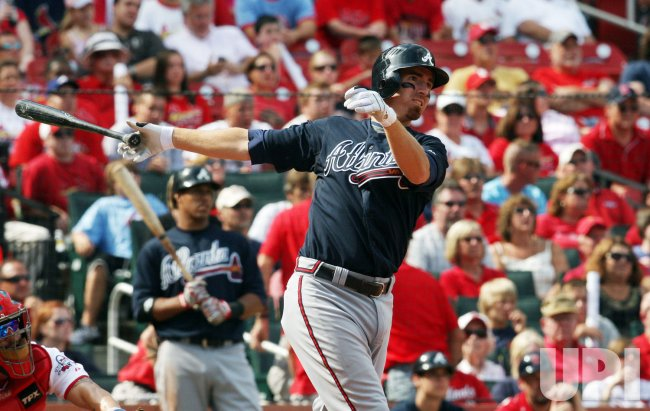 Atlanta Braves Adam LaRoche hits home run