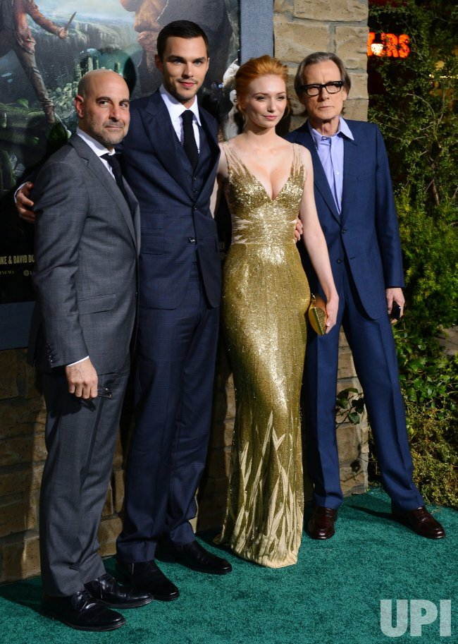 "Stanley Tucci, Nicholas Hoult, Eleanor Tomlinson and Bill Nighy attend ""Jack the Giant Slayer"" premiere in Los Angeles"