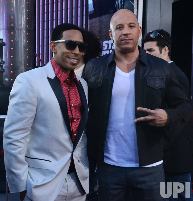 "Ludacris and Vin Diesel attend the ""Fast & Furious 6"" premiere in Llos Angeles"