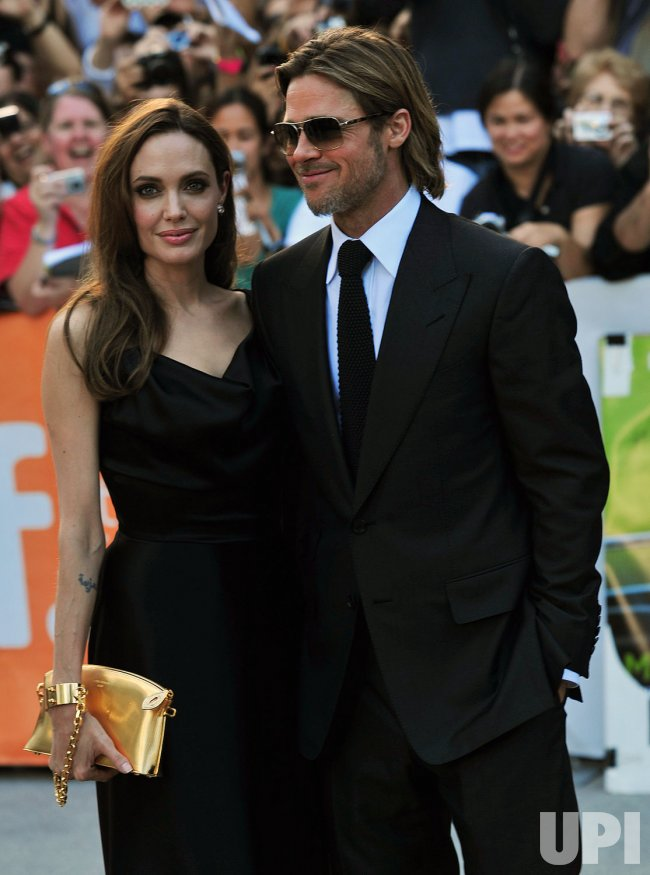 Brad Pitt and Angelina Jolie attend 'Moneyball' world premiere at the Toronto International Film Festival