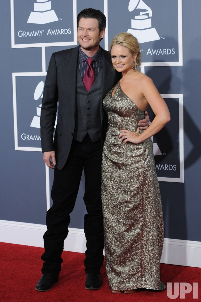 Miranda & Blake arrive at the 53rd Grammy Awards in Los Angeles