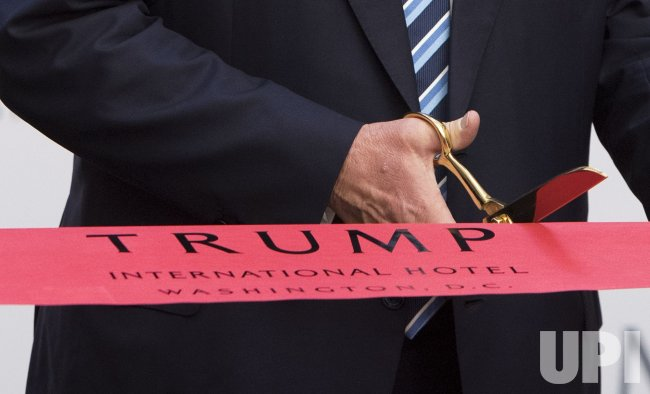 Donald Trump opens the Trump International Hotel in Washington, D.C.