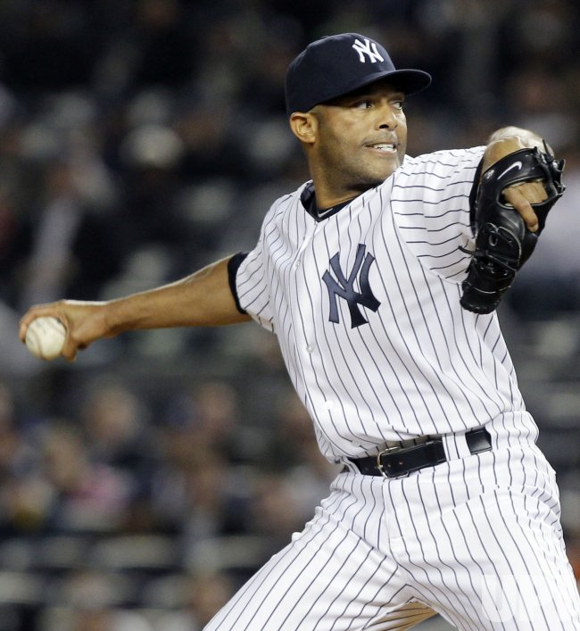 New York Yankees closer Mariano Rivera at Yankee Stadium in New York