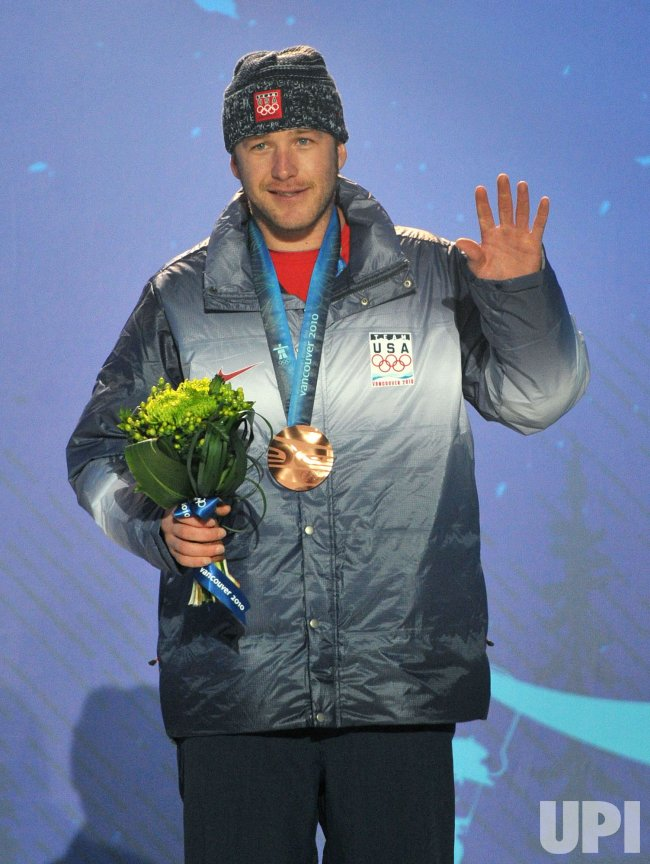 Men's Downhill victory ceremony in Whistler