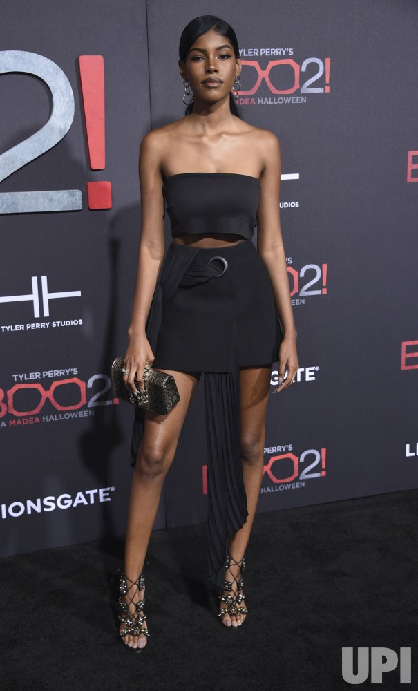 "Diamond White attends ""Tyler Perry's Boo 2! A Madea Halloween"" premiere in Los Angeles"