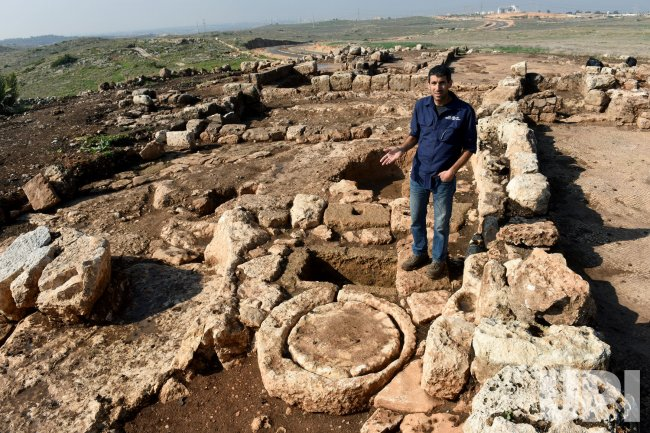 Ancient Oil Press Unearthed Beside Byzantine Monastery In Rosh Ha-Ayin