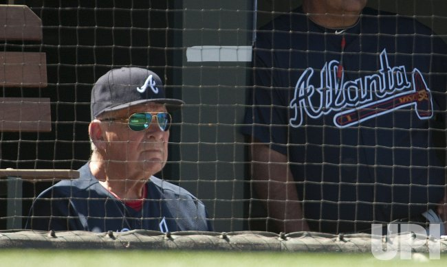 Braves Manager Cox Manages Last Game at Coors Field in Denver