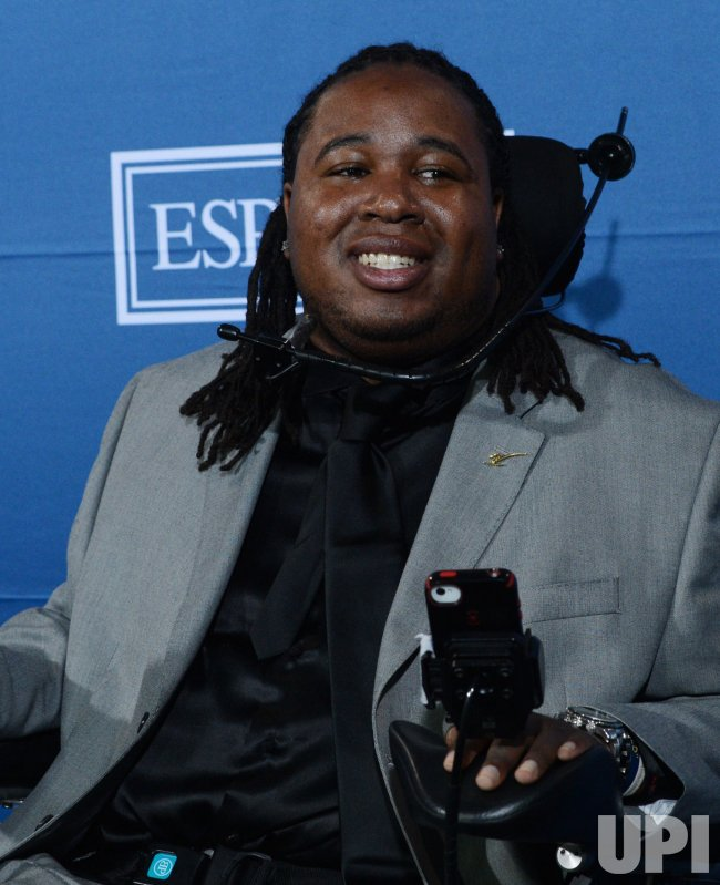 Eric LeGrand appears backstage at the 2012 ESPY Awards in Los Angeles