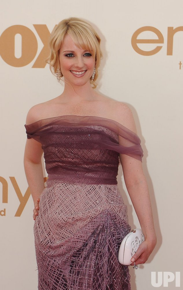 Melissa Rouch arrives at the Primetime Emmy Awards in Los Angeles