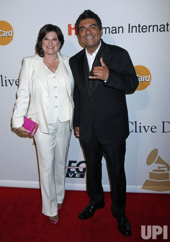 George Lopez arrives at the Clive Davis Pre-Grammy Gala in Beverly Hills