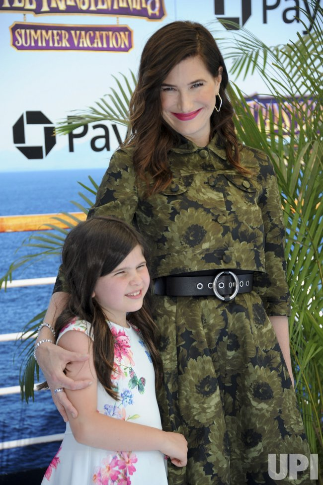 "Kathryn Hahn and daughter Mae Sandler attend the ""Hotel Transylvania 3: Summer Vacation"" premiere in Los Angeles"