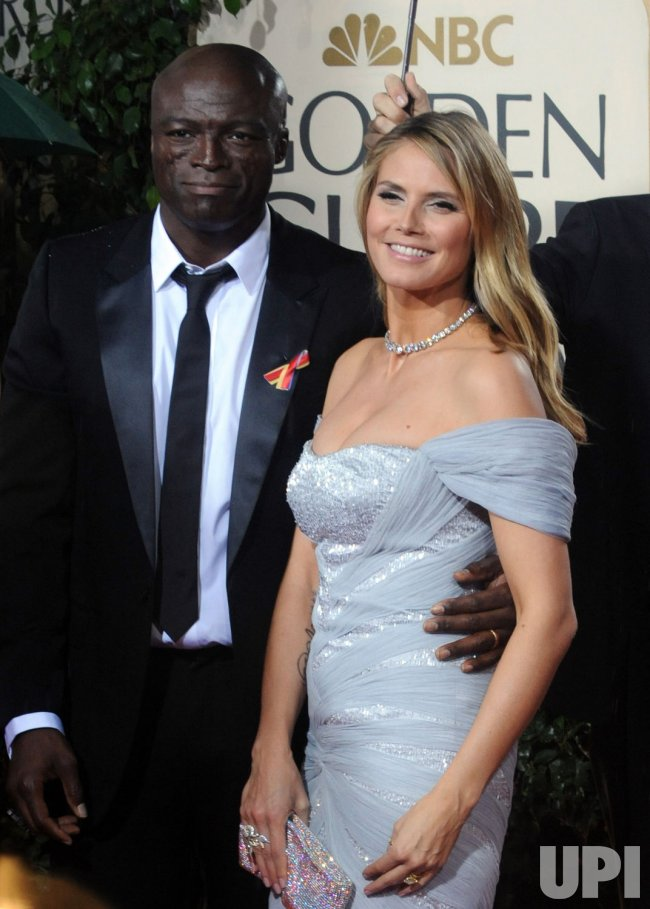 Heidi Klum and Seal arrive at the 67th annual Golden Globe Awards in Beverly Hills