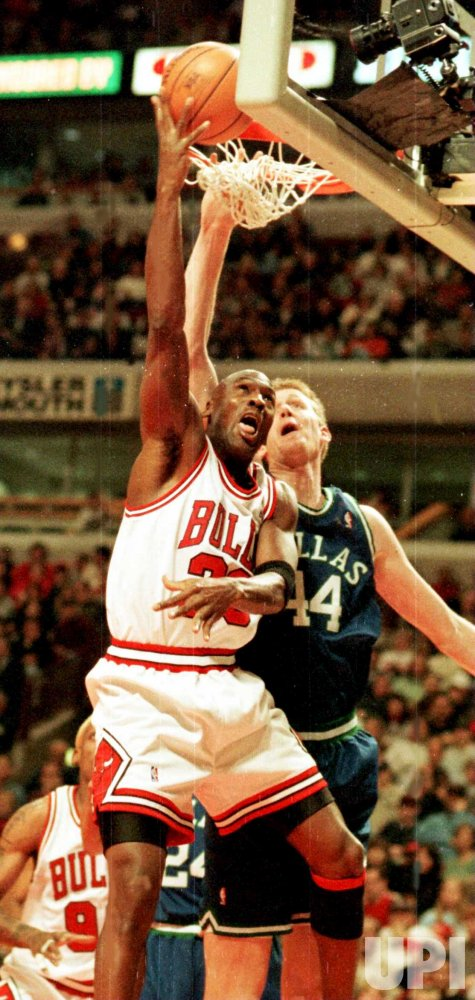 Bulls' Michael Jordan beats Dallas