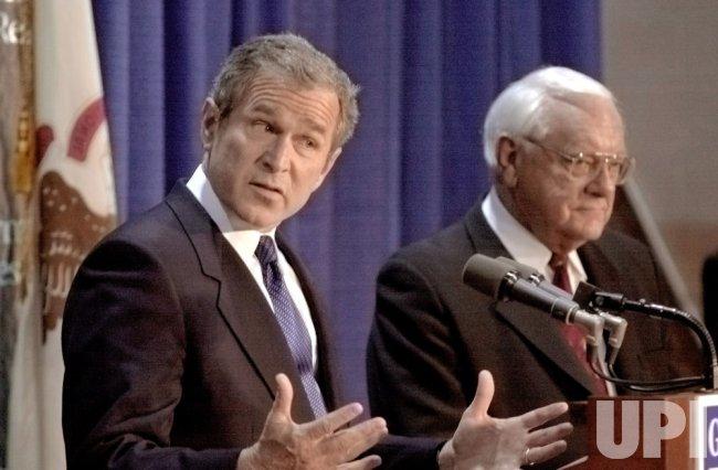 George Bush campaigns in Illinois