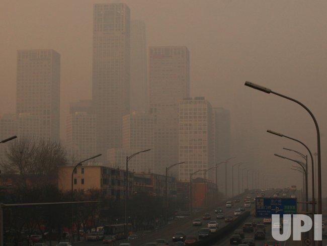 Heavy pollution hangs over Beijing