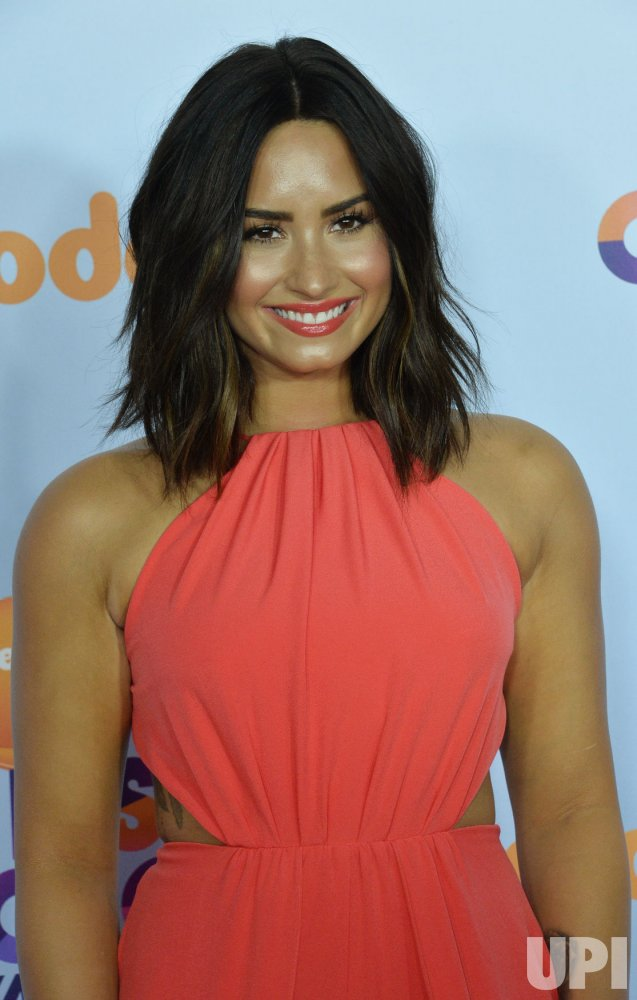 Demi Lavato attends the Kids' Choice Awards in Los Angeles