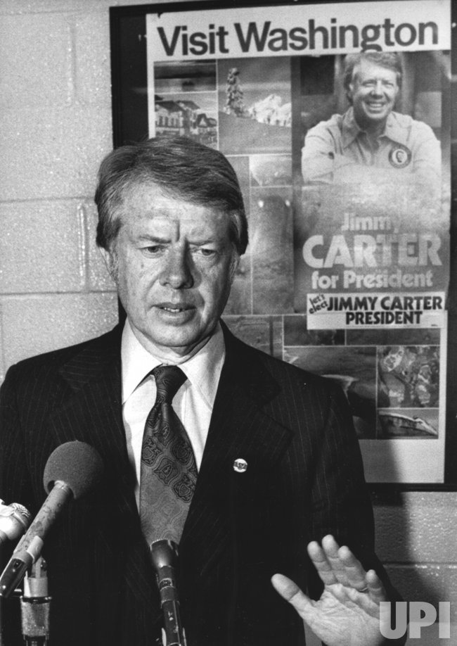 Jimmy Carter campaigns for the presidency in St. Louis