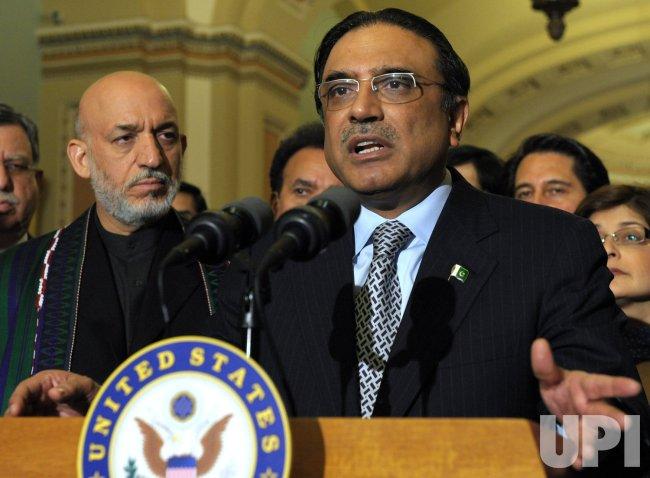 Afghan, Pakistani presidents meet with Senators in Washington