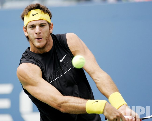 Del Potroi takes on Nadal in semi-final match at the US Open Tennis Championship in New York