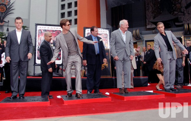 DAMON, PITT AND CLOONEY HONORED AT HAND & FOOTPRINT CEREMONY IN LOS ANGELES