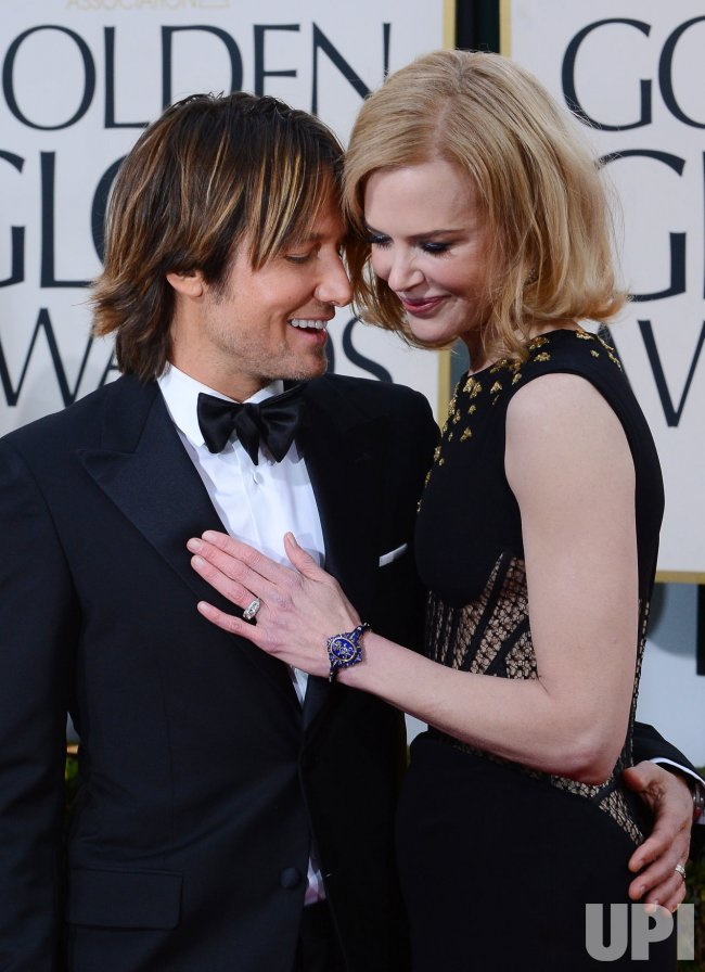 Nicole Kidman and Keith Urban attend the 70th annual Golden Globe Awards in Beverly Hills, California
