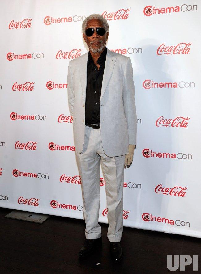 Morgan Freeman arrives at the 2013 CinemaCon Awards Ceremony in Las Vegas