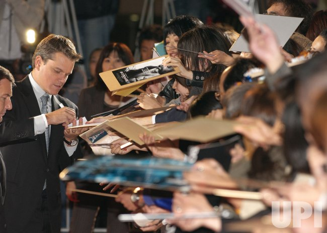 """The Bourne Ultimatum"" Japan premiere"