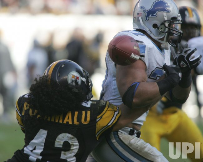 DETROIT LIONS AT PITTSBURGH STEELER
