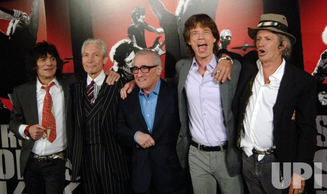 Martin Scorsese and the Rolling Stones film press conference in New York