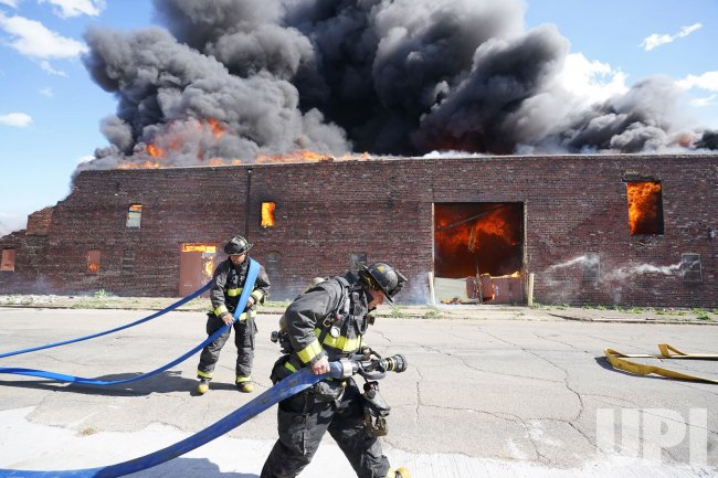 Three Alarm Fire Destroys Warehouse