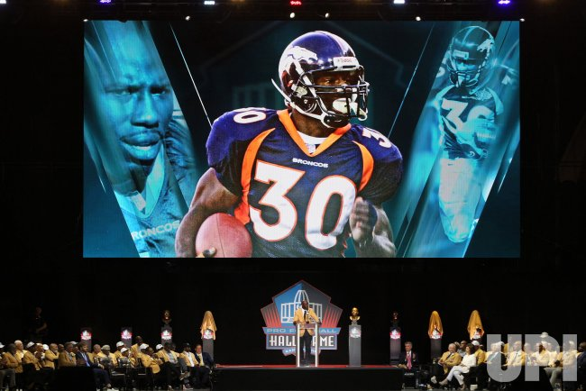 new styles 6d254 4c62b Terrell Davis inducted into the Pro Football Hall of Fame ...