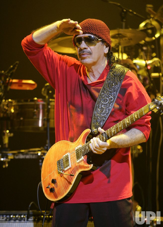 Santana performs in concert in Hollywood, Florida