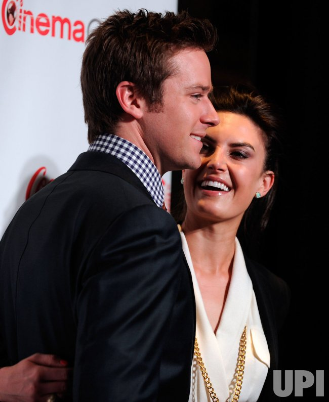 Armie Hammer and Elizabeth Chambers arrive at the 2013 CinemaCon Awards Ceremony in Las Vegas
