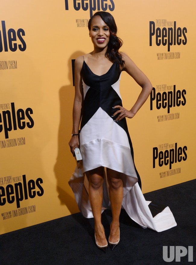 "Kerry Washington attends the ""Peeples"" premiere in Los Angeles"
