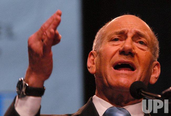 Israeli Prime Minister Olmert speaks at AIPAC in Washington