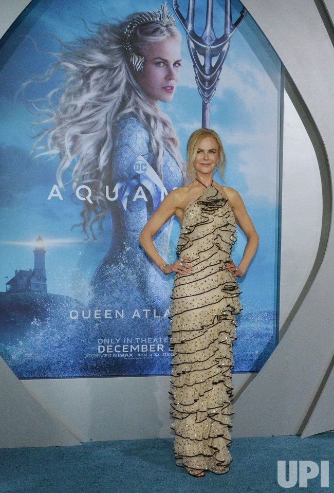 "Nicole Kidman attends ""Aquaman"" premiere in L.A."