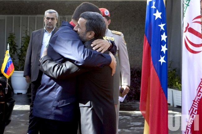 Welcome Ceremony for Venezuela's President Hugo Chavez in Tehran