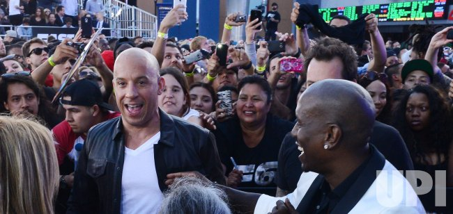 "Tyrese Gibson and Vin Diesel attend the ""Fast & Furious 6"" premiere in Llos Angeles"