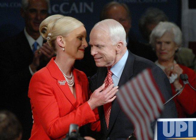 Sen. John McCain speaks at election rally in Phoenix