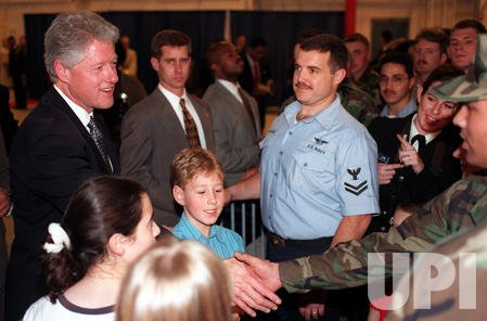 President Clinton visits troops at Norfolk Naval Base