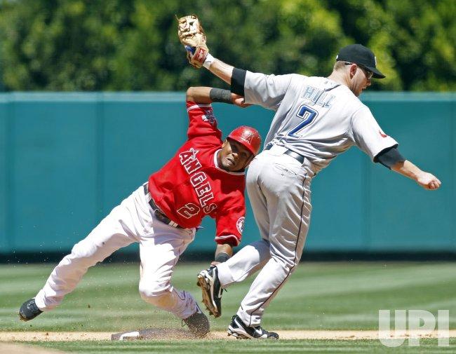 Los Angeles Angels vs Toronto Blue Jays in Anaheim, California, baseball
