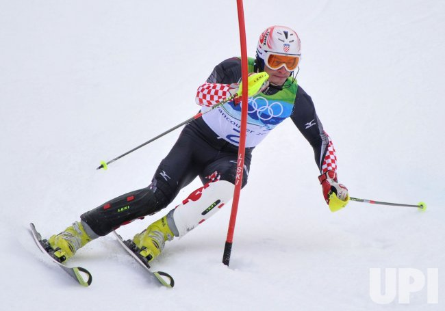 Croatia's Ivica Kostelic competes in the Men's' Slalom in Whistler