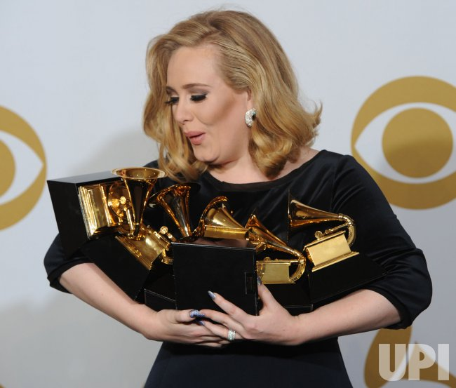 Adele wins six awards at the Grammys in Los Angeles