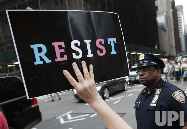 Protests at Trump Tower in New York
