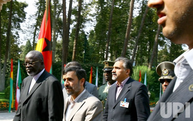 Welcome Ceremony for President of Guinea Bissau, Malam Bacai Sanha in Tehran