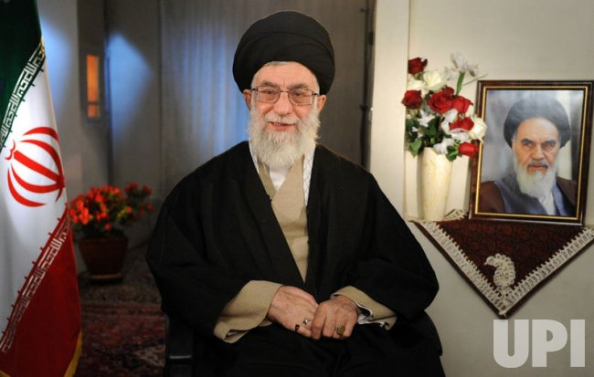 Iranian Supreme Leader Ali Khamenei releases a statement on the Persion New Year in Tehran